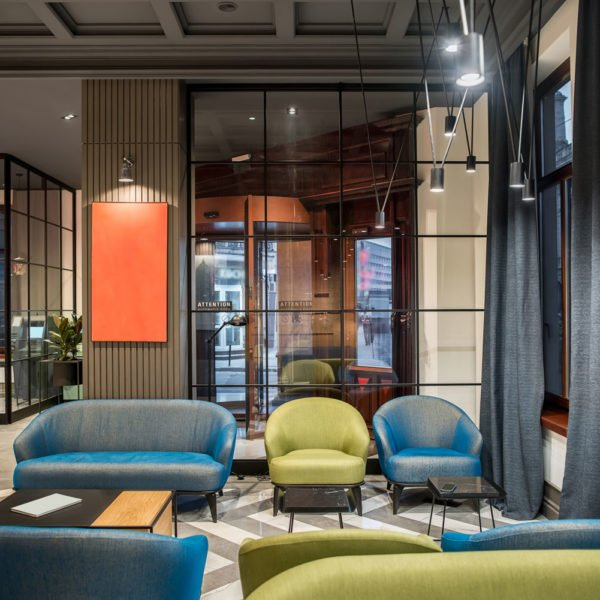 glass partitions in hospitality