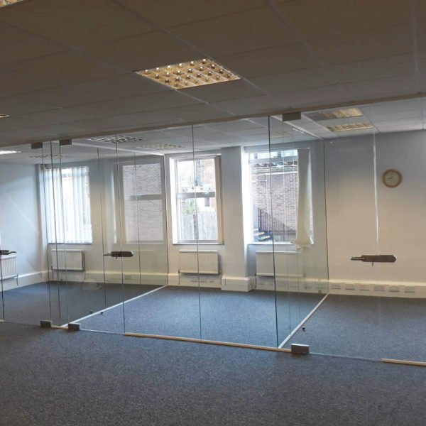 glass partition in progress
