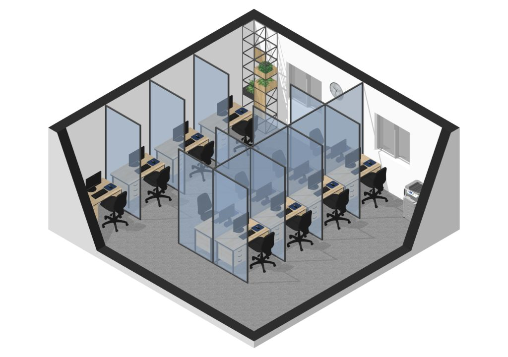 Social distancing in office